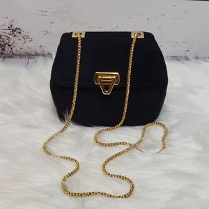 Vintage Frenchy of California Navy Suede Mini Bag
